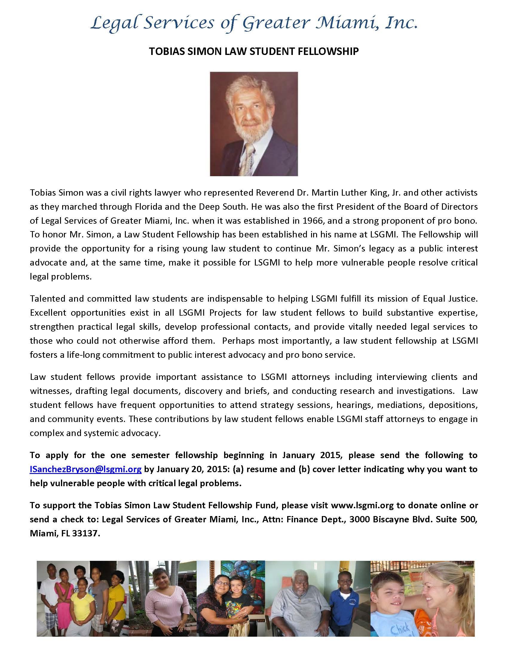 LSGMI Tobias Simon Law Student Fellowship